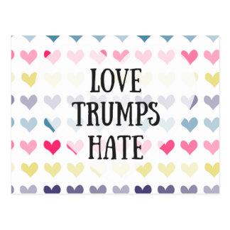 Love trumps hate. postcard