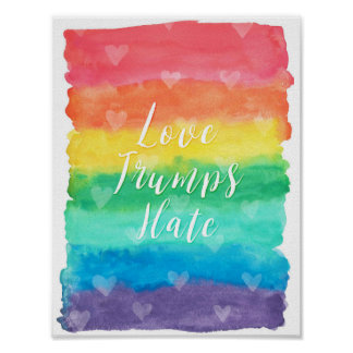 """Love Trumps Hate"" Quote Poster"