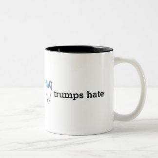 Love Trumps Hate Safety Pin Coffee Mug