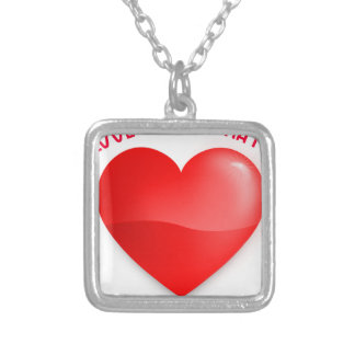 love trumps hate silver plated necklace