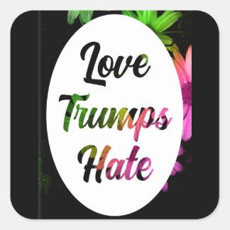Love Trumps Hate Square Sticker