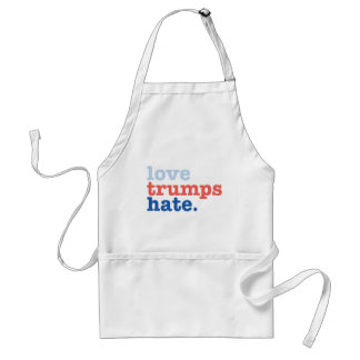 love trumps hate standard apron