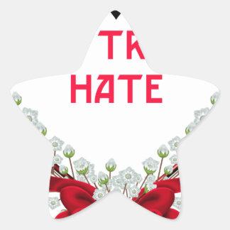 love trumps hate star sticker