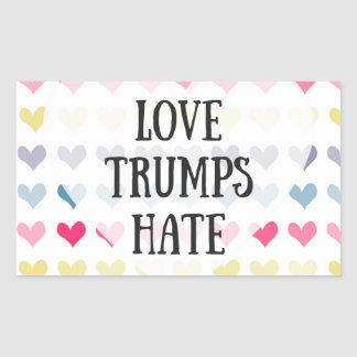 Love trumps hate (sticker) sticker