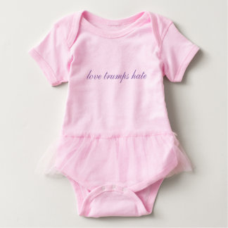 love trumps hate- sweet baby tutu outfit baby bodysuit