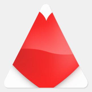 love trumps hate triangle sticker