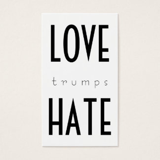 LOVE trumps HATE VII Business Card