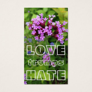 LOVE trumps HATE X Business Card