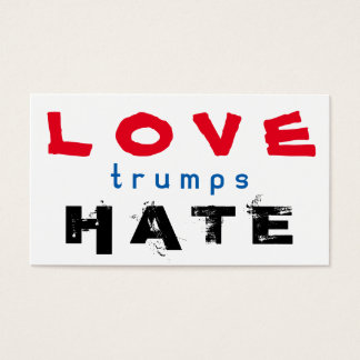 LOVE trumps HATE XIV Business Card