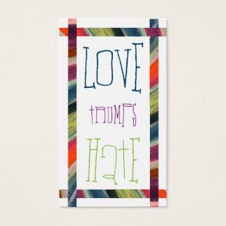 LOVE trumps HATE XIX Business Card