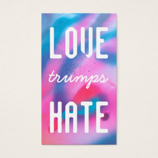 LOVE trumps HATE XV Business Card
