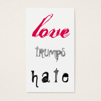 LOVE trumps HATE XVIII Business Card