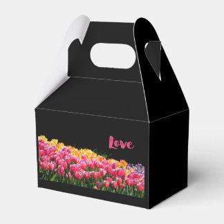 Love Tulip Garden Favor Box