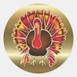 LOVE TURKEY by SHARON SHARPE Classic Round Sticker