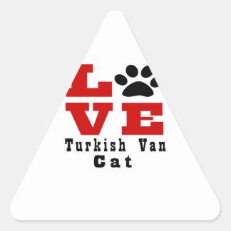 Love Turkish Van Cat Designes Triangle Sticker