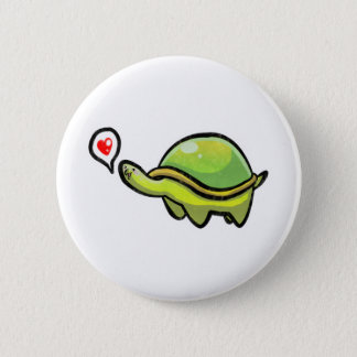 Love Turtle 2 Inch Round Button