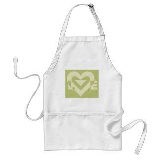 Love Two-Tone Sage Green Standard Apron