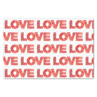 Love Typography 1 Corinthians 13 Pattern Red Tissue Paper