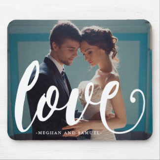 Love Typography and Names Photo Mousepad