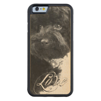 """""""Love"""" Typography Pet or Pet Memorial Add Photo Carved Maple iPhone 6 Bumper Case"""