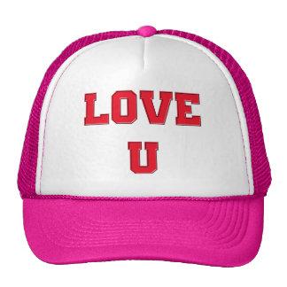 Love U you romance design Valentine's Day Hats