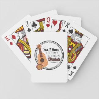 Love Ukelele Uke Music Lover Funny Gift Playing Cards