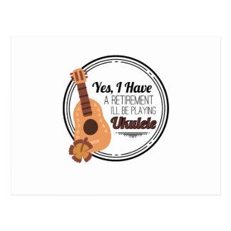 Love Ukelele Uke Music Lover Funny Gift Postcard
