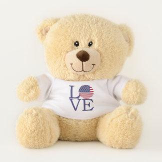 Love USA Flag Teddy Bear