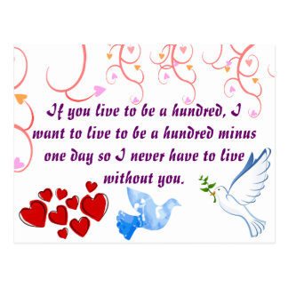 Love Valentine Wedding Wife Husband Peace Destiny Postcard