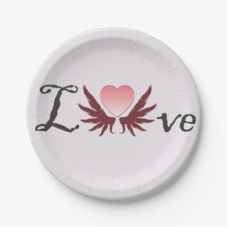 Love - valentine's day designs,paper plates