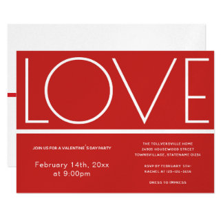 Love Valentines Day | Invitation