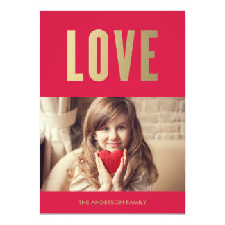 "Love | Valentine's Day Photo Card 5"" X 7"" Invitation Card"