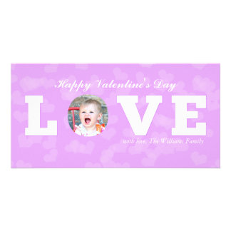 LOVE | Valentine's Day Photo Greeting Card