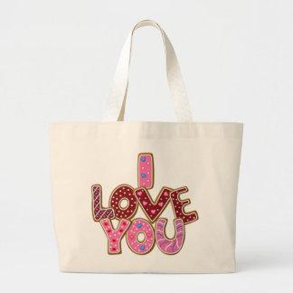 Love Valentine's Day tote bag