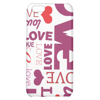 Love valentines day typography iphone case cover for iPhone 5C