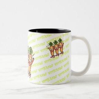 LOVE VEGETABLES!! - Carrot- Two-Tone Coffee Mug