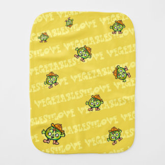 LOVE VEGETABLES!! - Pumpkin- Burp Cloth
