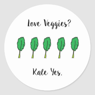 Love Veggies Kale Yes Stickers