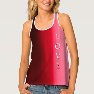 LOVE Vibrant Abstract Tank Top