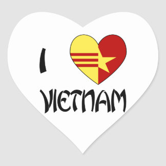Love Vietnam Unity Heart Sticker