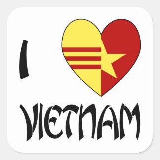 Love Vietnam Unity Square Sticker