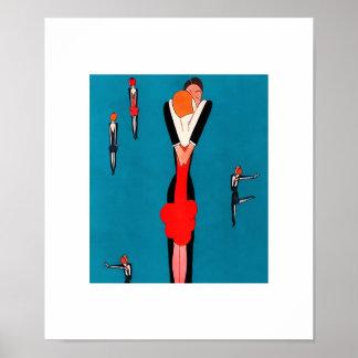 Love. Vintage Art Deco design Art Prints