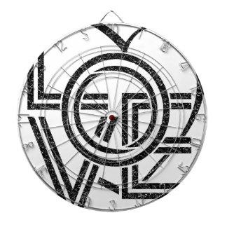 love vintage graphic design dartboard with darts