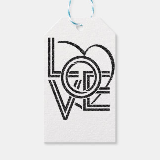 love vintage graphic design gift tags
