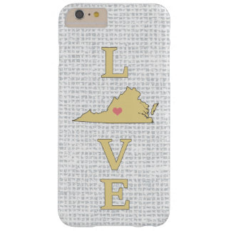 LOVE Virginia State Map moveable heart Barely There iPhone 6 Plus Case