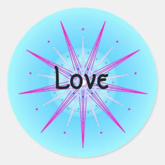 Love (Virtue sticker) Round Sticker