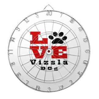 Love Vizsla Dog Designes Dartboard With Darts