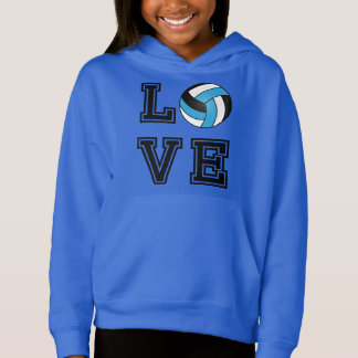 Love Volleyball - Baby Blue, White and Black