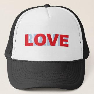 love vs reality trucker hat