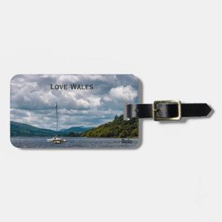 Love Wales Bala Lake Luggage Tag
